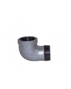 Cast-iron EL fitting for mounting vent in 2 in (DN50) bung opening