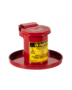 Benchtop Solvent Safety Can For Long Cotton Tipped Applicators, 0.45 Gallon, Self-Closing Lid, Red