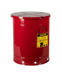 Oily Waste Can, 21 gallon, hand-operated cover, Red