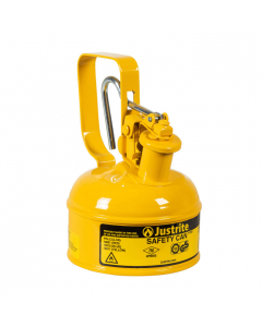 1 Pint Steel Safety Can for Diesel, Type I, Flame Arrester, Trigger-Handle, Yellow - 10011