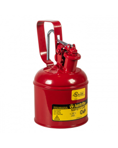 Type I Steel Safety Can w/Trigger-handle for flammables, 1 quart, Red - #10101
