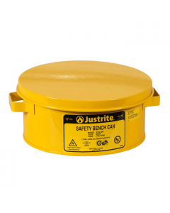 Bench Can Without Parts Basket, 1 Gallon, Steel, Yellow - #10385