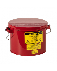Swab Pail with dasher plate for sponging operations, 6 quart, hinged cover, Steel, Red - #10471