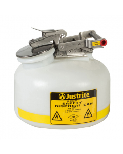 Safety Can for Liquid Disposal, 2 gallons, polyethylene, White - #12751