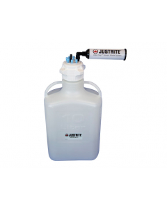 """VaporTrap Carboy with filter Kit, 10L HDPE, 83mm cap, 6 ports 1/8"""" OD tubing, 1 port 1/4"""" or 3/8"""" hose barb - #12807"""