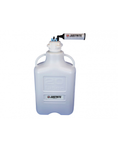 """VaporTrap Carboy with filter Kit, 20L HDPE, 83mm cap, 6 ports 1/8"""" OD tubing, 1 port 1/4"""" or 3/8"""" hose barb - #12808"""