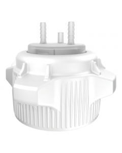 """Carboy Cap, 83mm, Open Top with Adapter, Two 1/4"""" Molded-in Hose Barbs and Vent - #12859"""