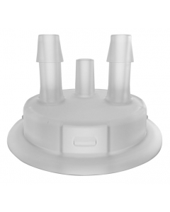 """Adapter for Carboy Cap, 53mm, with two 1/4"""" Molded-in Hose Barbs and Vent - #12865"""