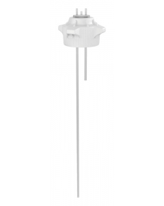 """Carboy Cap, 120mm, Open Top with Adapter w/Two 1/4"""" Molded-in Hose Barbs, w/37"""" tubing - #12889"""