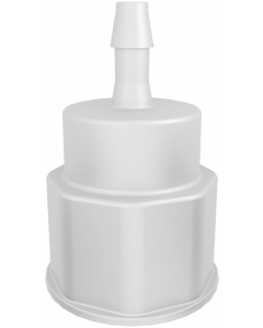 """Spigot Fitting, 1-1/8"""" Thread with 1/4"""" Hose Barb - #12902"""