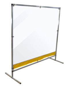 6' x 5' Free Standing Workspace Cough and Sneeze Guard   - #15610