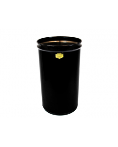 Cease-Fire® Waste Receptacle, Safety Drum Can Only, 12 gallon, Black - #26001K