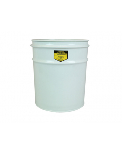 Cease-Fire® Waste Receptacle, Safety Drum Can Only, 12 gallon, White - #26001W