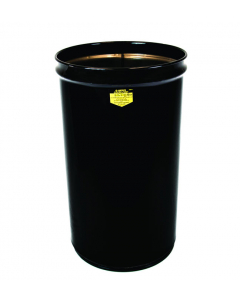 Cease-Fire® Waste Receptacle, Safety Drum Can Only, 55 gallon, Black - #26054K