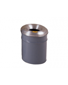 Cease-Fire® Waste Receptacle, Safety Drum Can With Aluminum Head, 4.5 gallon, Gray - #26604G