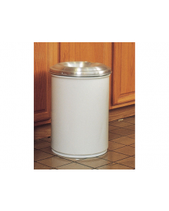 Cease-Fire® Waste Receptacle, Safety Drum Can With Aluminum Head, 6 gallon, White - #26606W