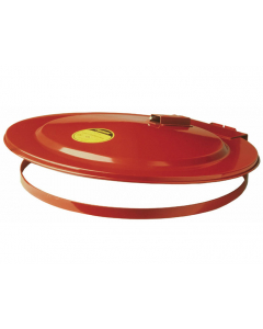 Drum Cover with Fusible Link for 30 gallon drum, self-close, steel, Red - #26730