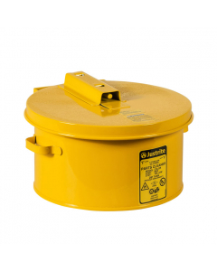 Dip Tank for cleaning parts, 1 Gallon, Manual Cover with fusible link, Steel, Yellow - #27611