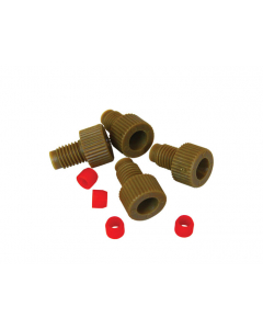 """Replacement 1/8"""" OD Tube Fittings with PCTFE Ferrules for HPLC Stainless Steel Manifold, Set of 4 - 28175"""