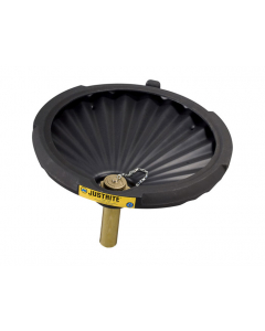 Drum Funnel for Flammables With Drum Fill Vent and Flame Arrester, EcoPolyBlend™, Black - 28681