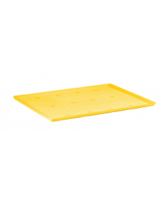 Yellow Polyethylene Tray and Sump for shelf #29936 and 12, 15 gallon Compac, 22 gallon Slimline safety cabinets - #29051