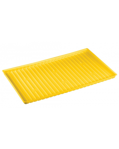 Yellow Poly Tray for shelf #29939, #29949 and 22 gallon Undercounter or 23 gallon Under Fume Hood safety cabinet - #29052