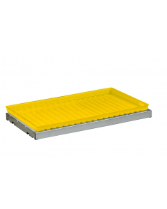 SpillSlope® Steel Shelf with Yellow Poly Tray for 12 and 15 gallon Compac & 22 gallon Slimline safety cabinets - #29060