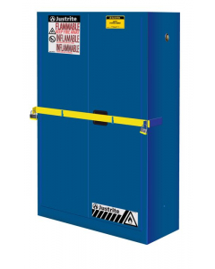 45 Gal Blue High Security Corrosives/Acid Safety Cabinet with Steel Bar, 2 Manual Close Doors- #29884B