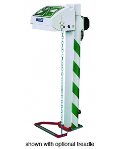 Hughes Eye and Face Wash, Freeze Protected, Pedestal Mount, Closed ABS Bowl, S.S. Pipe,240V C1D2 - #H45GSP-2H