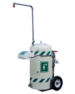 Hughes Mobile Self-Contained Emerg. Safety Shower w/ Eye/Face Wash,Freeze Protected,30 Gal,120V C1D2 - #H40K45G-A-1H