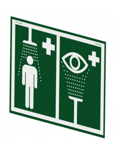 Universal Safety Shower and Eye/Face Wash Sign For Wall Mounting - #ES-SIGN