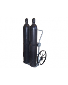 Double Cylinder Hand Truck, 20 Inch Steel Wheels - #35020