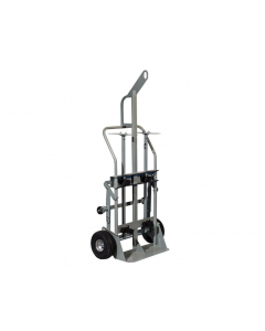 Double Cylinder Hand Truck with Hoist Ring, 10.5 Inch Pneumatic Wheels, Rear Casters - #35026