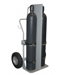 """Double Cylinder Hand Truck With Firewall, 16"""" Pneumatic Wheels - 35040"""