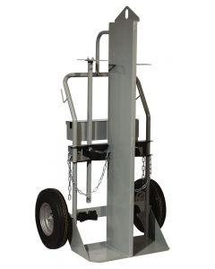 """Double Cylinder Hand Truck With Firewall and Hoist Ring, 16"""" Pneumatic Wheels, Tool Box - 35050"""