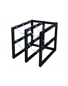 2W x 3D Gas Cylinder Storage Rack | For 6 Cylinders- #35112