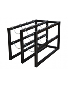2W x 4D Gas Cylinder Storage Rack | For 8 Cylinders - #35118
