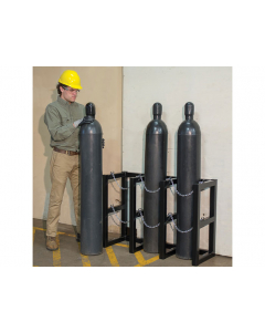 3W x 1D Gas Cylinder Storage Rack  | For 3 Cylinders- #35122