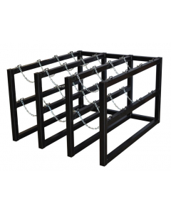 3W x 4D Gas Cylinder Storage Rack | For 12 Cylinders- #35140