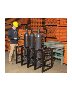 4W x 2D Gas Cylinder Storage Rack | For 8 Cylinders - #35150