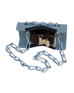 Gas Cylinder Support Bracket with Chain, 1 Cylinder Capacity, Wall Mount, Steel - #35254