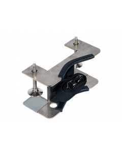 Gas Cylinder Support Bracket, 1 Cylinder Capacity, Bench Mount, Stainless Steel - #35260