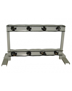Gas Cylinder Stand, 8 Cylinder Capacity, Back-to-Back, Steel - #35302
