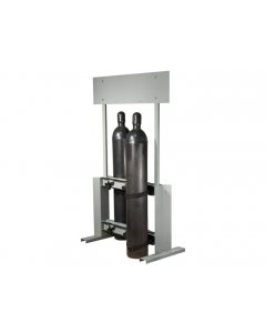 Gas Cylinder Process Stand, 6 Cylinder Capacity, Back-to-Back, Steel - #35314