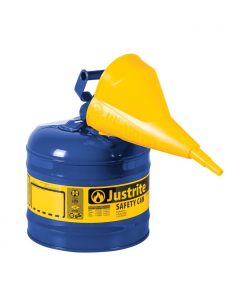 Type I Steel Safety Can for Kerosene, with Funnel, 2 gallon, Blue - #7120310
