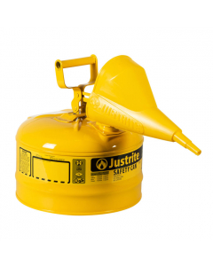 Type I Steel Safety Can for Diesel, with Funnel, 2.5 gallon, Yellow - #7125210