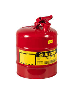 Type I Steel Safety Can for flammables, 5 gallon, Red - #7150100