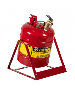 Type I Steel Tilt Safety Can with Stand, 5 gallon, top faucet, Red - #7150156