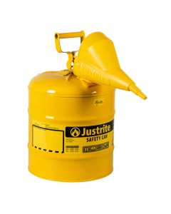 Type I Steel Safety Can for Diesel, with Funnel, 5 gallon, Yellow - #7150210
