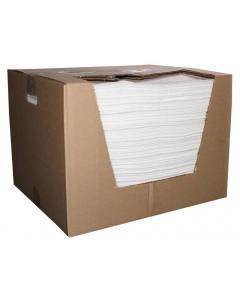 """15"""" x 18"""", Meltblown Oil Only Absorbent Pads, Medium Weight, Boxed, 100 Count - 83466"""